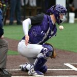 time-lapse photography of baseball about to hit baseball catcher